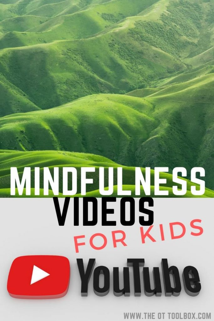Mindfulness for kids videos and online activities on YouTube