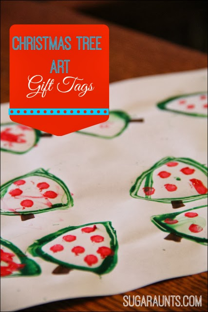 Christmas Tree gift tags are a fun Christmas craft for kids!