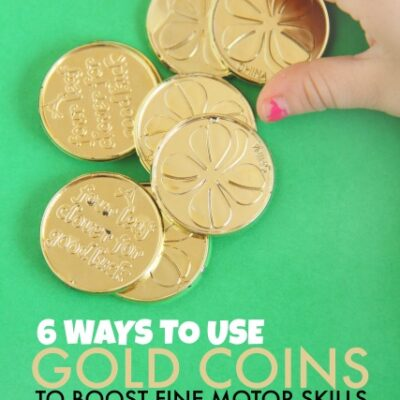 6 Fine Motor Activities using Gold Coins