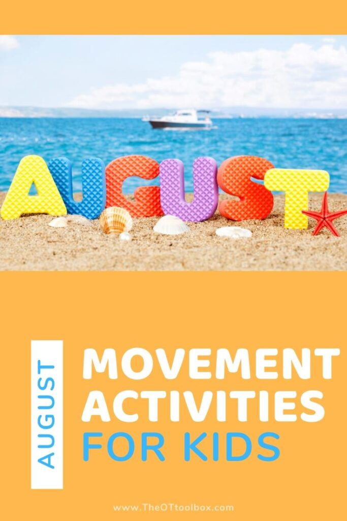 August movement activities for kids