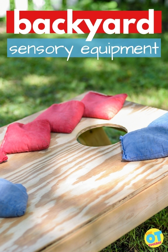 outdoor equipment for sensory input in the backyard