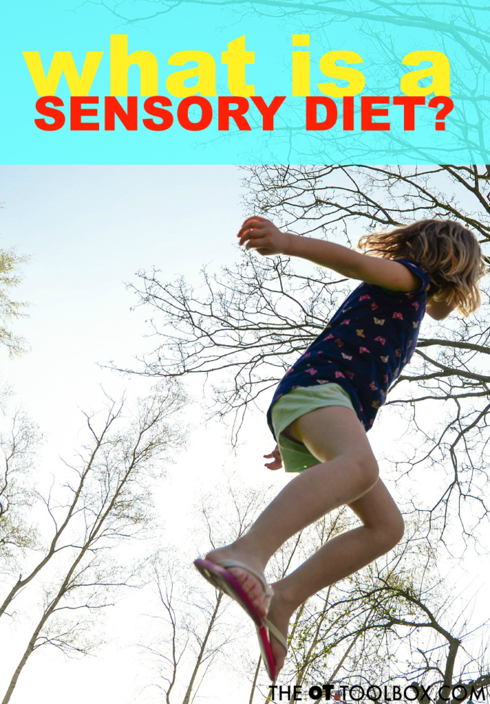 Wondering what a sensory diet is? This article explains what exactly a sensory diet looks like and how a sensory diet is used to help kids with a variety of sensory-related challenges, using sensory diet activities.