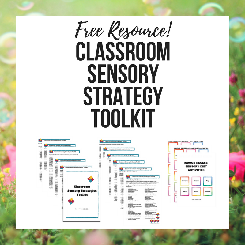 Use these classroom sensory strategies to help kids with sensory processing needs to learn, pay attention, self-regulate, focus, and address sensory needs within the classroom or learning environment to address educational goals and sensory needs. Perfect for occupational therapists in the schools.