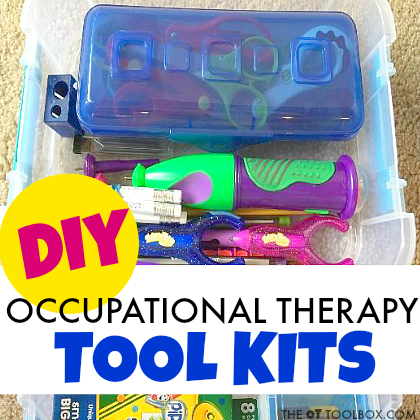 Create occupational therapy activity kits to address a variety of occupational therapy goal areas.
