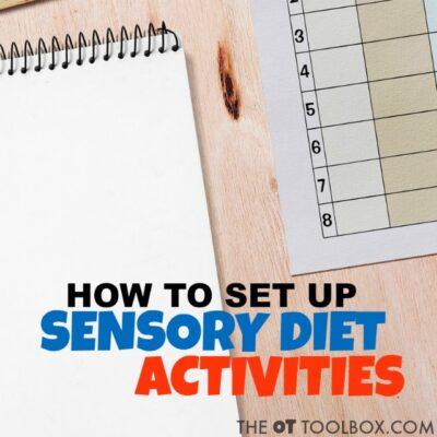 How to Schedule Sensory Diet Activities