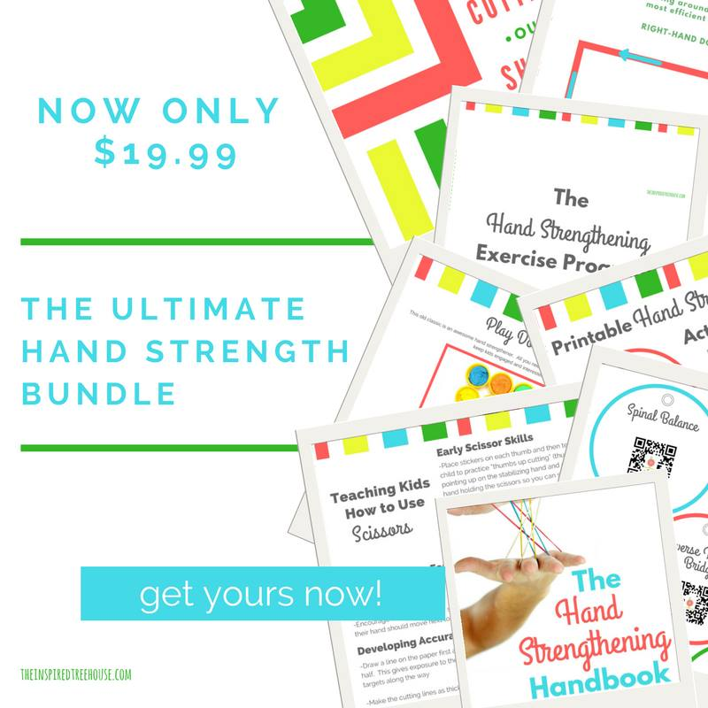 This hand strengthening exercise program is perfect for occupational therapists working with kids who need to improve fine motor skills.
