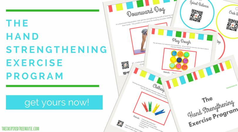 This hand strengthening exercise program is perfect for occupational therapists who suggest hand strengthening activities to kids who need improved hand strength.