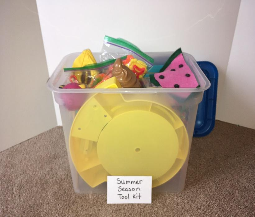 Create a summer themed occupational therapy activity toolkit for pediatric occupational therapy treatment.