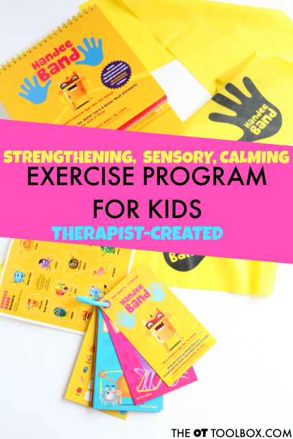 The Handee Band therapy band exercise program is perfect for adding fun fitness for kids.