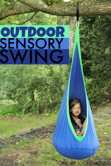Use an outdoor sensory swing for the ultimate sensory experience for kids with sensory processing needs, self-regulation challenges, attention, and more.