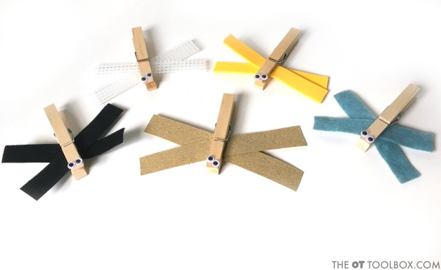 Dragonfly occupational therapy activity that kids can make.