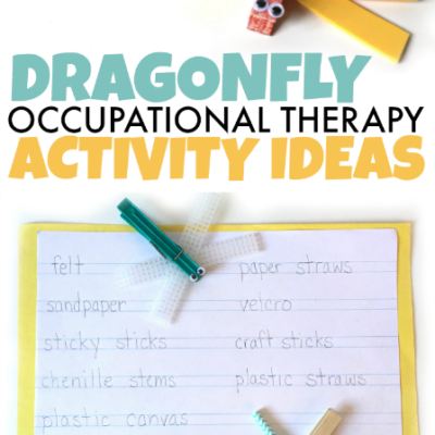 Dragonfly Occupational Therapy Activity