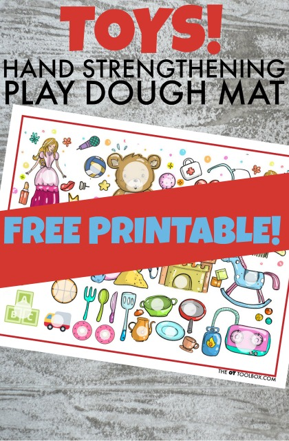 toy theme play dough mat