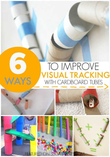 Visual Tracking Activities with Cardboard Tubes