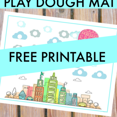 Use this City Play Dough Mat for Increasing Hand Strength