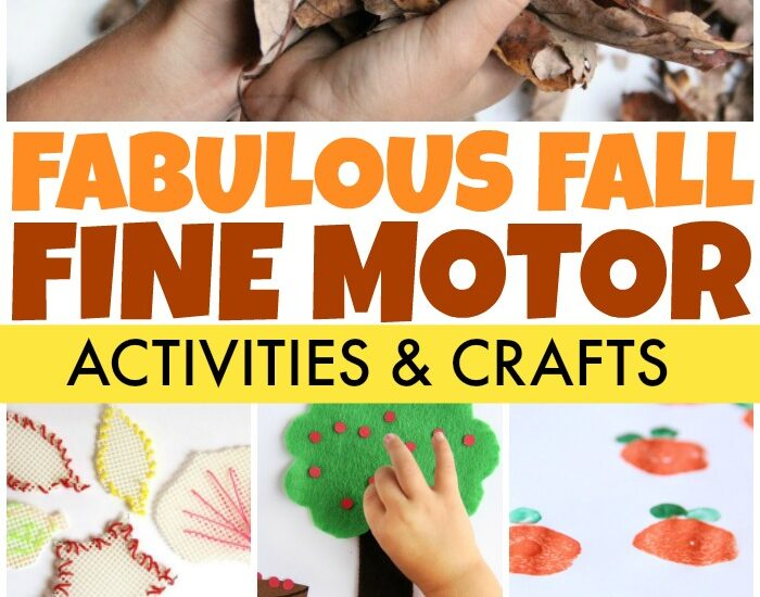 Fall fine motor activities for kids to develop fine motor skills.