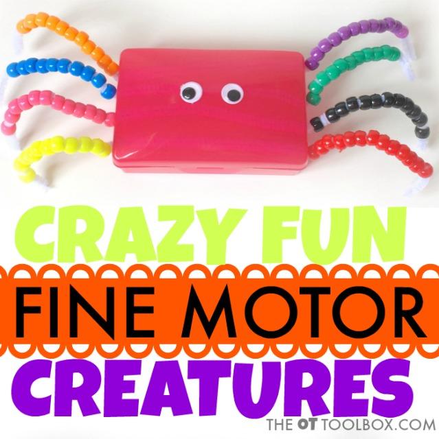 Use a soap holder to make a fine motor craft into a soap holder animal craft that builds fine motor skills kids need.