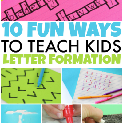 10 Ways to Teach Letter Formation