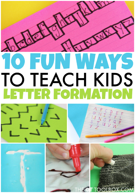 When kids are learning to write, knowing how to write letters can be hard! These handwriting activities are great for anyone trying to teach letter formation to kids.