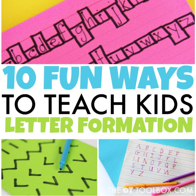 ways to teach letter formation