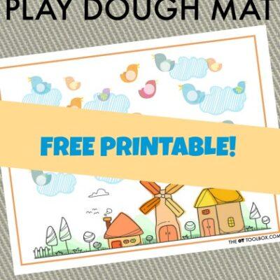 Bird Play Dough Mat for Hand Strength