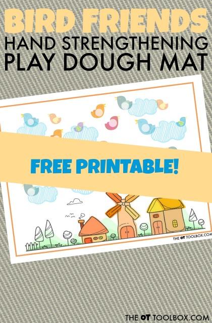 free play dough mat bird theme