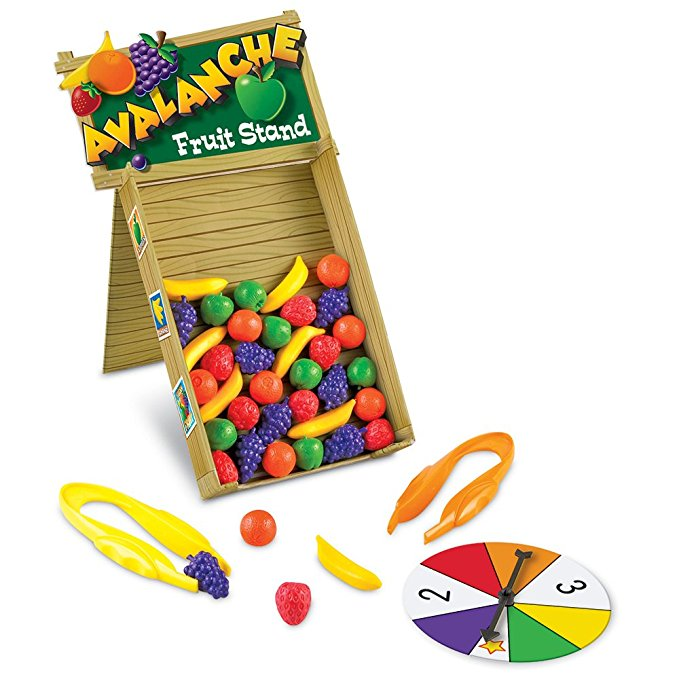 Use the Fruit Avalanche game to improve pencil grasp, making it the perfect fine motor game for occupational therapy activities.