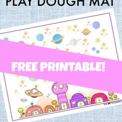 Outer Space Play Dough Mat for Intrinsic Hand Strength