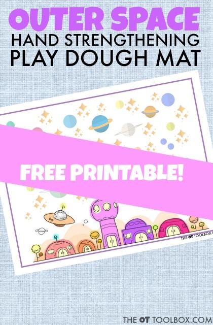 space play dough mat