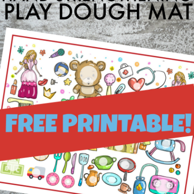 Toy Theme Play Dough Mat for Boosting Hand Strength in a Fun Way
