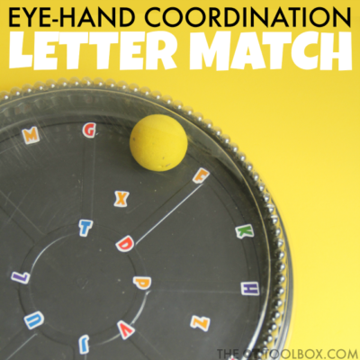 Eye-Hand Coordination Letter Match Activity
