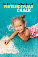 Use chalk to build fine motor skills