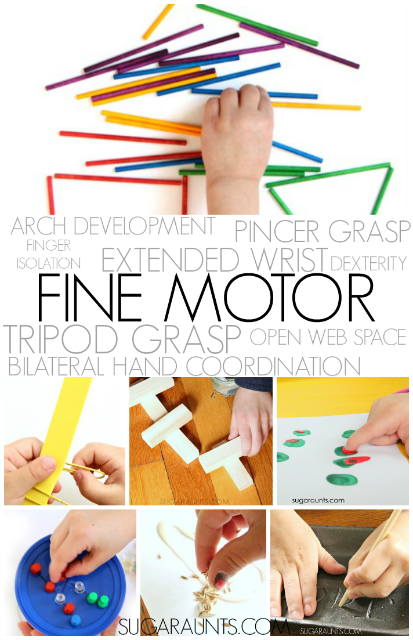 handwriting and fine motor skills needed for functional tasks in kids and adults. Activities to work on each area.
