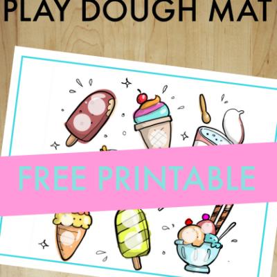 Ice Cream Play Dough Mat Hand Strengthening