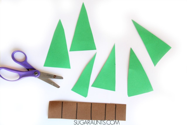 Preschoolers will love this Christmas Tree Activity that helps improve scissor skills.