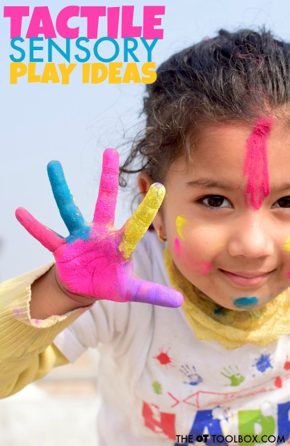 These tactile sensory play ideas are great for encouraging tactile sensory awareness and learning through play.