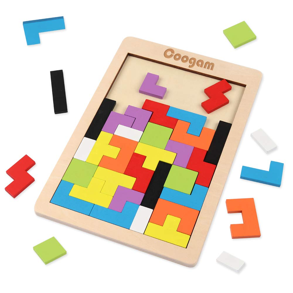 Remember Tetris? Use a tetris puzzle to teach kids executive functioning skills like foresight and a good toy to help with executive function disorder.