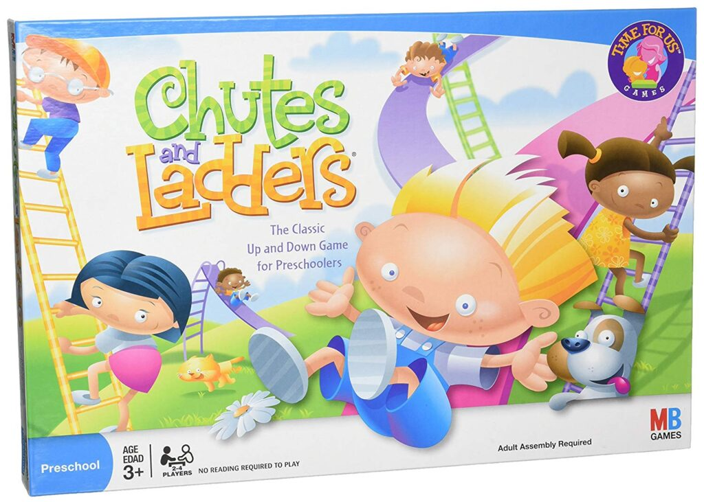 Chutes and ladders is a game that teaches executive function skills like foresight and actions and consequences.