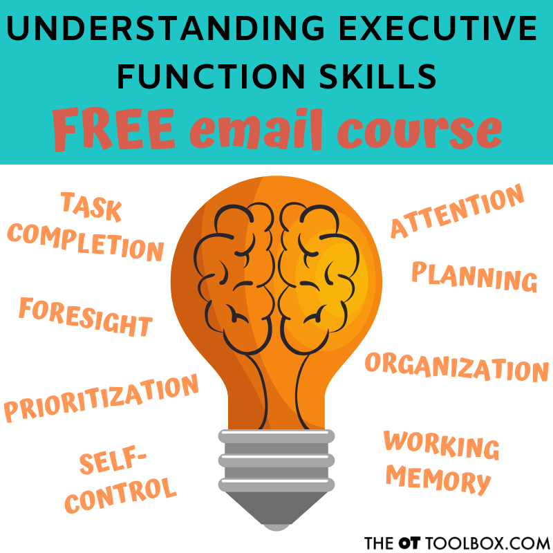 Understand executive functioning skills with this free email course for parents, teachers, and therapists