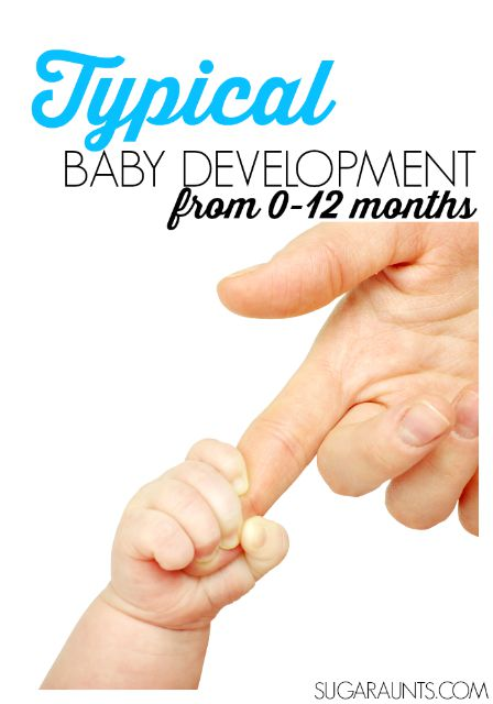 Typical baby development from 0-12 months with creative play ideas.