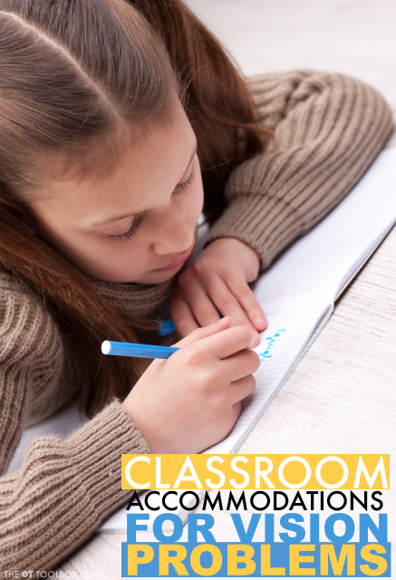 Use these visual impariment accommodations to help kids with vision problems flourish in the classroom.