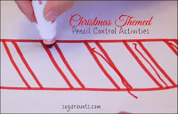 Christmas Theme Pencil Control Activity