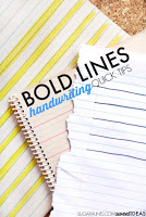 Bold lined paper for handwriting