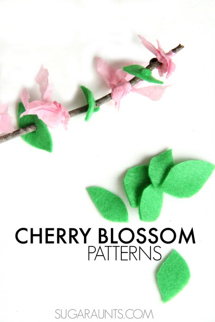 Cherry blossom craft pattern craft for teaching patters