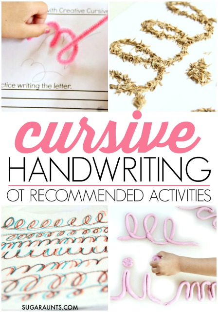 Cursive handwriting ideas and tips from an Occupational Therapist.
