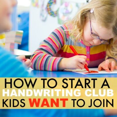 How to Start a Handwriting Club