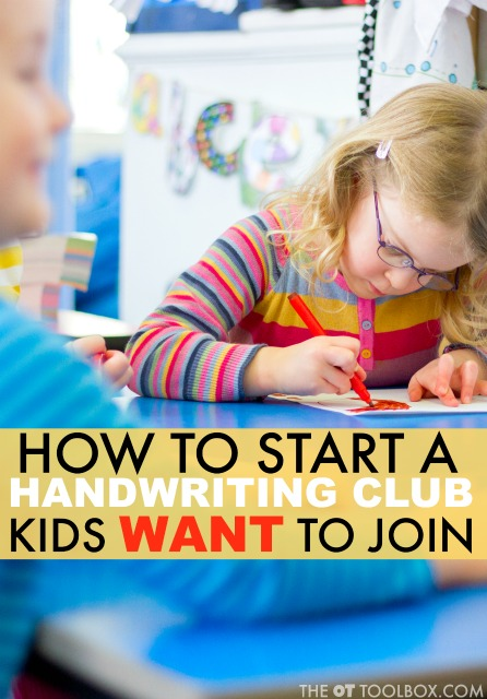 Start a handwriting club to help kids learn handwriting and practice legible written work in a fun and creative environment. Handwriting club can be a fun way to practice letter formation, letter spacing, line use, and handwriting speed.