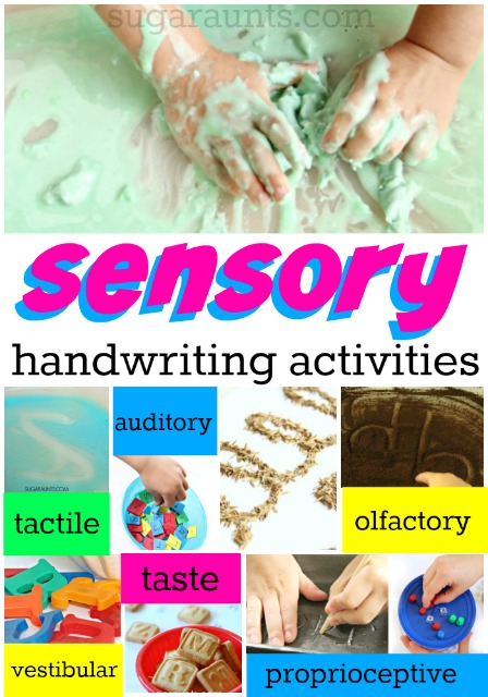 sensory handwriting activities for kids to learn how to write letters and numbers