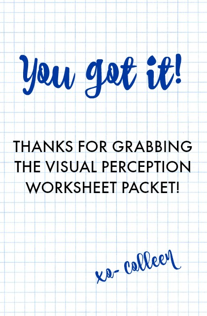 Free visual perception packet and information