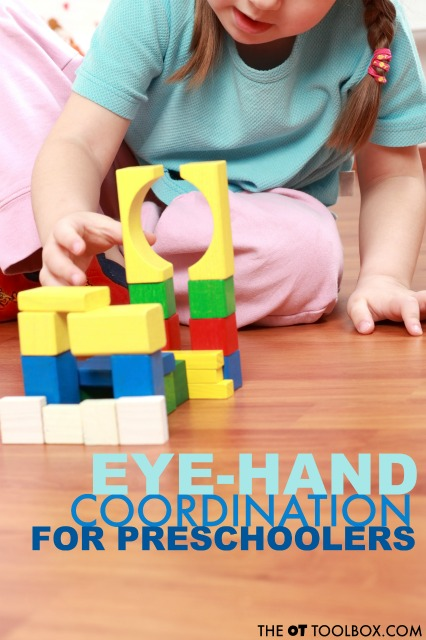 eye hand coordination activities for preschoolers